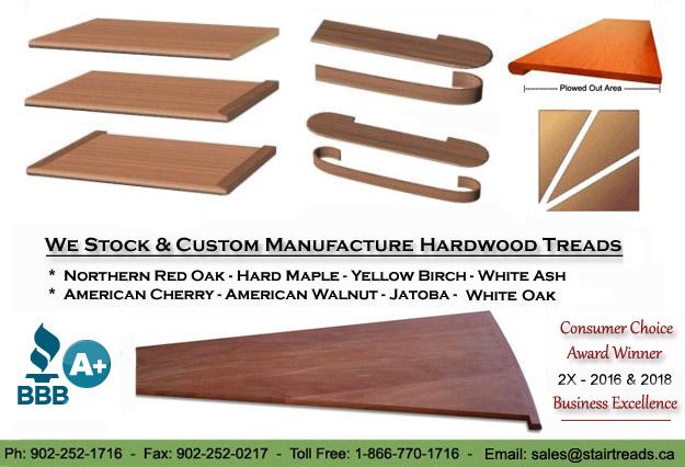 Buy Stair Treads In USA   Oak, Birch Maple, Jatoba, Walnut.