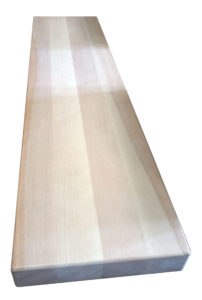 "2-1/2"" Birch Face grain style stair tread (Stair Treads Canada)"