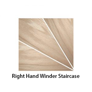 right hand winder staircase shown - a270 (Stair Treads Canada)