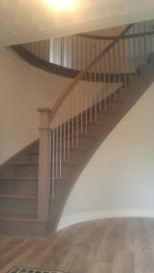 Curved Staircase installed by Scotia Stairs Limited
